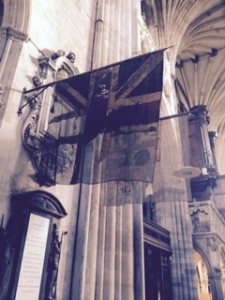 exeter cathedral flags