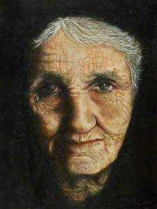Portrait of an Old Woman by Graham Brindley