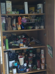 kitchen cupboard before