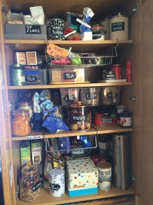 kitchen cupboard after