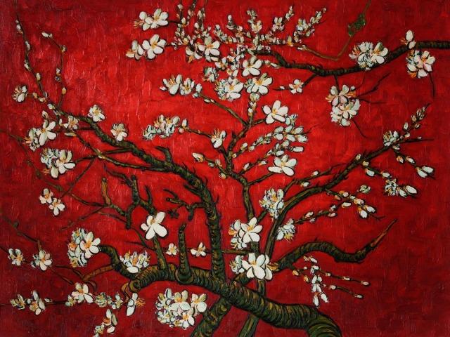 Van Gogh Almond Blossom (red)