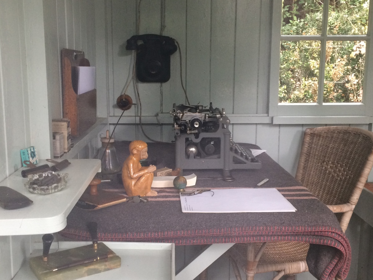 Inside Shaw's writing hut