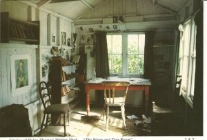 Inside Dylan Thomas's hut