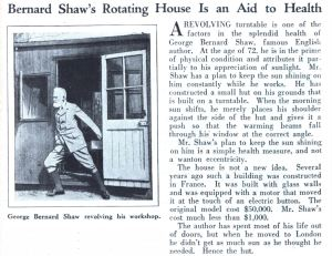 Shaw's hut newspaper article from 1929