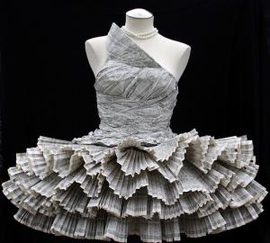 paper dress art