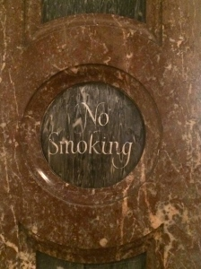 No Smoking sign @ RA