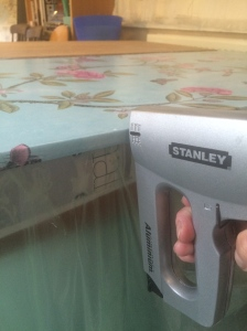 home-made folding screen (staple gun)