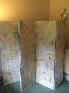 homemade folding screen maps