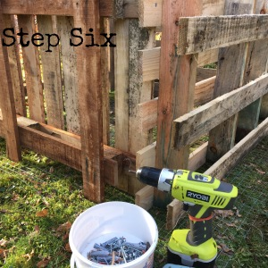 Screw and nail the pallets together