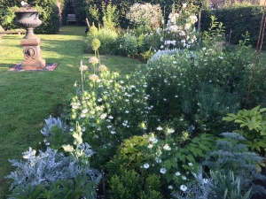 White, green and grey garden